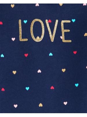 Carter's Set 2 Piese Love bluză & pantaloni