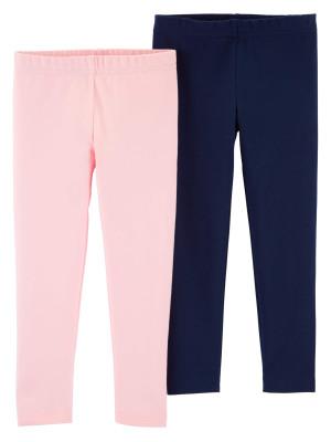 Carter's Set 2 piese pantaloni bleumarin, roz