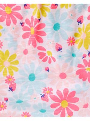 Carter's Set 2 piese tricou & colanți floricele colorate