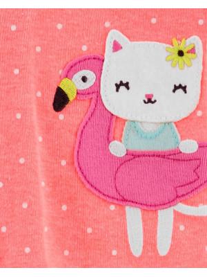 Carter's Pijama Flamingo si Pisicuta