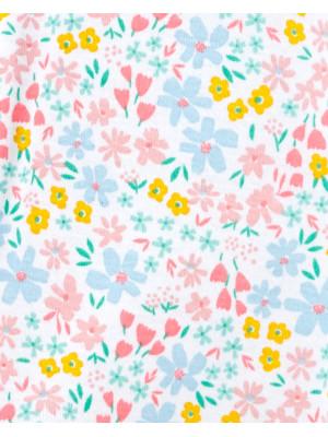 Carter's Pijama cu fermoar si flori