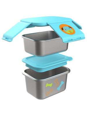 Skip Hop Kit pentru pranz din otel inoxidabil Zoo - Catel