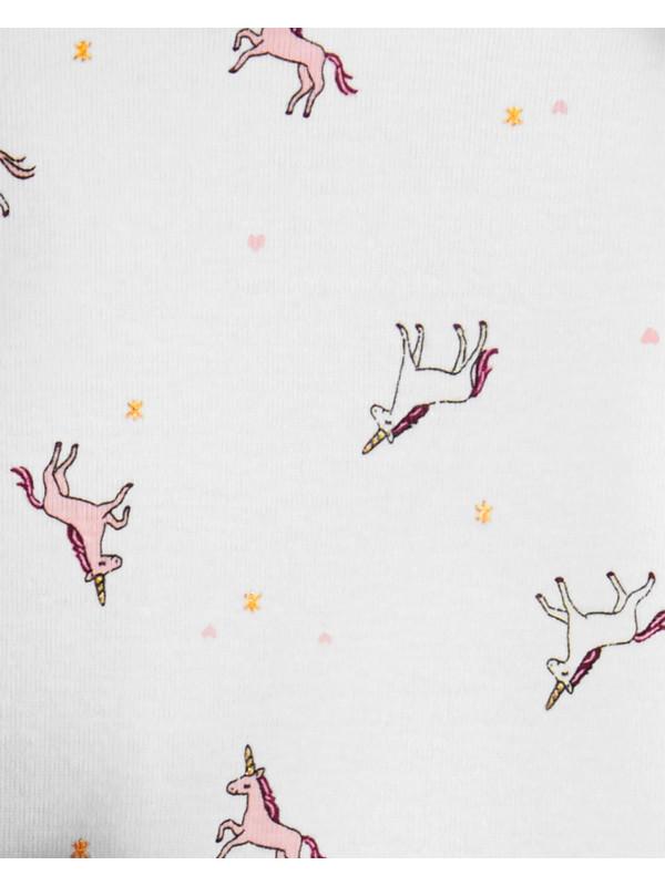 Carter's Set 3 piese Unicorn vestă, pantaloni & body