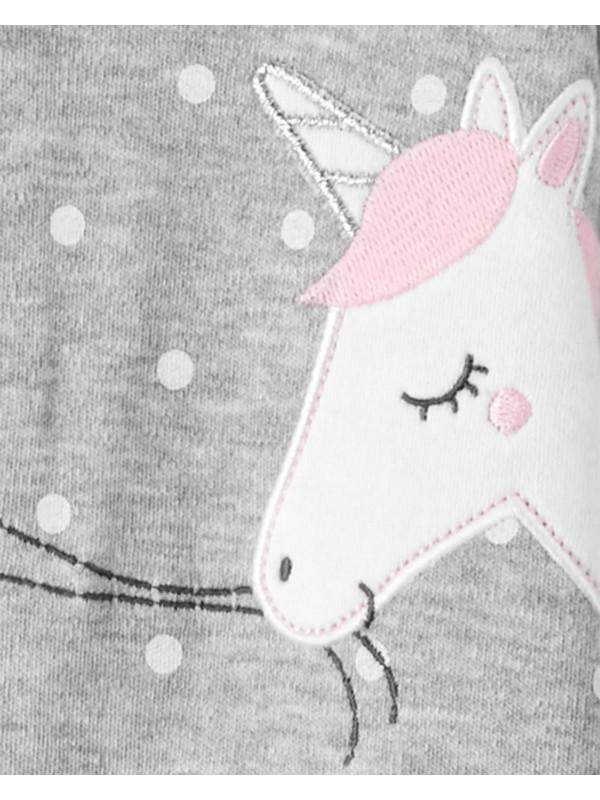 Carter's Pijama gri cu Unicorn