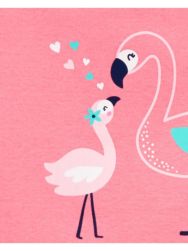 Carter's Set 5 Piese body Flamingo