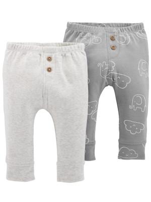 Carter's Set 2 Piese – pantaloni lungi din bumbac cu nasturi