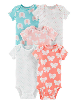 Carter's Set 5 Piese body Elefant 100% bumbac
