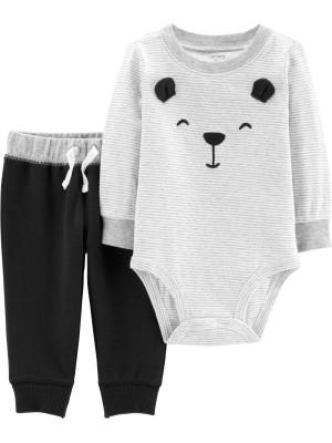 Carter's Set 2 Piese Ursuleț body & pantaloni 100% bumbac