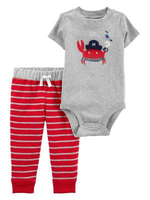 Carter's Set 2 Piese Crab pantaloni lungi & body