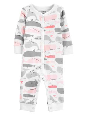Carter's Pijama cu capse și balene 100% bumbac