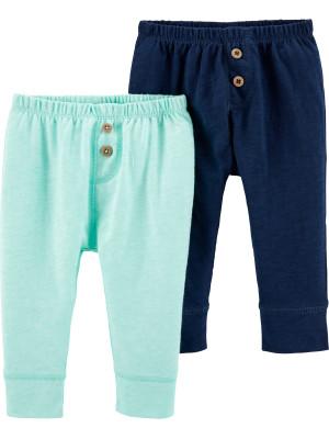 Carter's Set 2 Piese pantaloni lungi 100% bumbac cu nasturi
