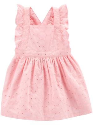 Carter's Rochiță Roz cu volănașe 100% bumbac