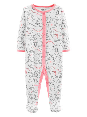 Carter's Pijama cu dinozauri roz 100% bumbac