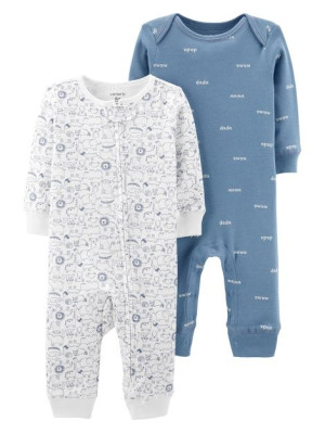 Carter's Set 2 piese pijamale bebe Animăluțe