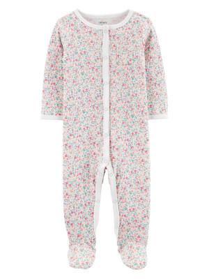 Carters Pijama cu capse bebelus Flori