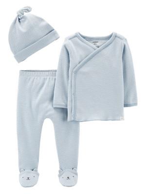 Carter's Set 3 piese pantaloni, top si caciulita