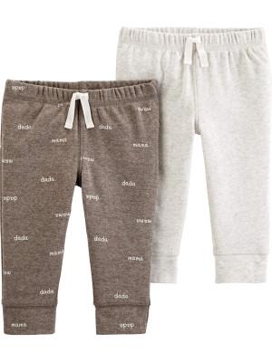 Carter's Set 2 piese pantaloni slogan, uni
