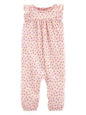 Carter's Salopeta roz cu model floral