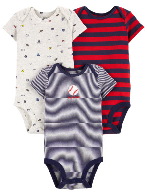Carter's Set 3 piese body  baseball/dungi