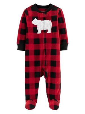 Carter's Pijama Fleece Cadrilata, Ursulet