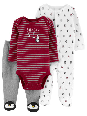 Carter's Set 3 piese pijama, body si pantaloni
