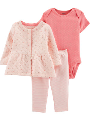 Carter's Set 3 piese Cardigan, pantaloni & body
