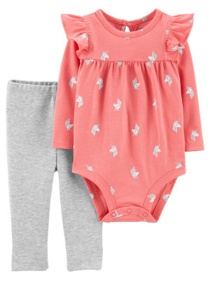 Carter's Set 2 piese Unicorn body si pantaloni
