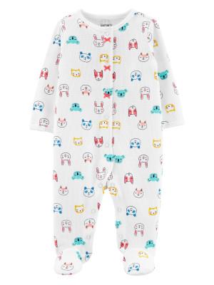 Carter's Pijama bebe ivoire cu Animale