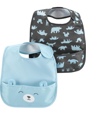 Carter's Set 2 bavețici impermeabile bebelus Ursulet