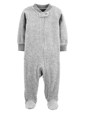 Carter's Pijama Cu Dungi, Din Velur
