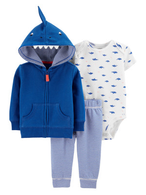 Carter's Set 3 piese hanorac, pantaloni si body Rechin