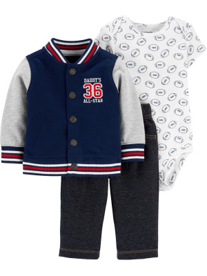 Carter's Set 3 Piese hanorac, body & pantaloni Varsity