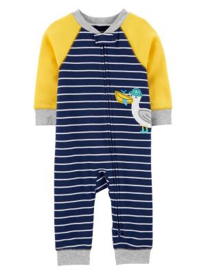 Carter's Pijama cu fermoar reversibil Pescarus