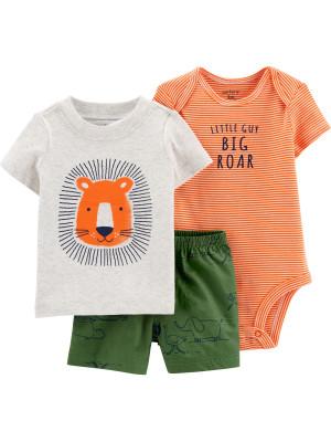 Carter's Set 3 Piese body, tricou & pantaloni Leu