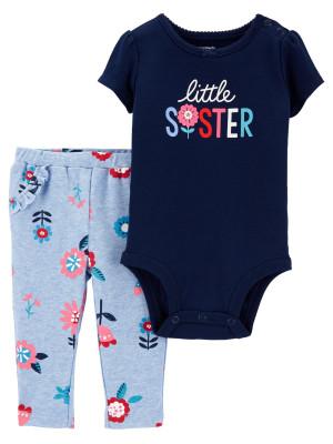 Carter's Set 2 piese pantaloni si body Sora mai mica