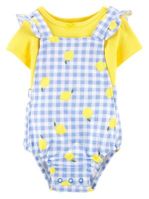 Carter's Set 2 Piese bebe tricou si salopeta Lamai