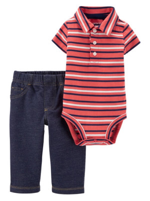 Carter's Set 2 Piese Polo body & pantaloni