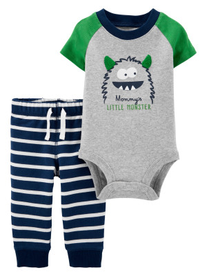 Carter's Set 2 piese pantaloni & body Monstrulet