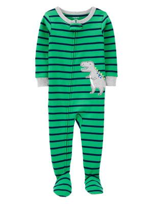 Carter's Pijama cu dungi si dinozaur