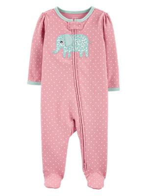 Carter's Pijama cu fermoar reversibil Elefantel