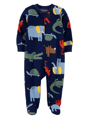 Carter's Pijama cu fermoar reversibil bleumarin bebelus Animale