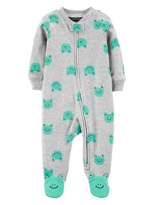 Carter's Pijama cu fermoar reversibil bebe Broscute