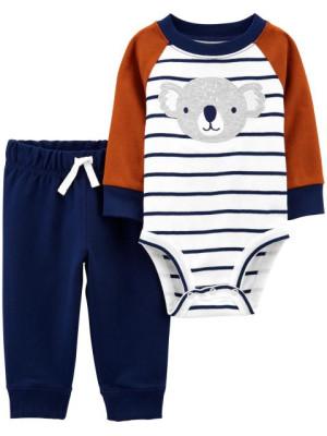 Carter's Set 2 piese bebelus pantaloni si body Koala