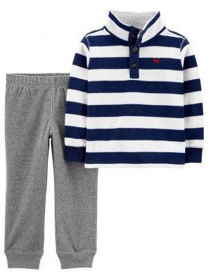 Carter's Set 2 piese bluza si pantaloni fleece