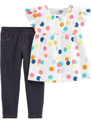 Carter's Set 2 Piese Buline bluză & colanți