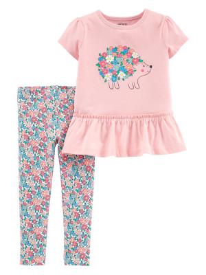 Carter's Set 2 Piese Arici bluză cu arici & pantaloni florali