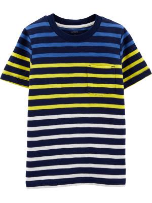 Carter's Tricou cu dungi și buzunar 100% bumbac