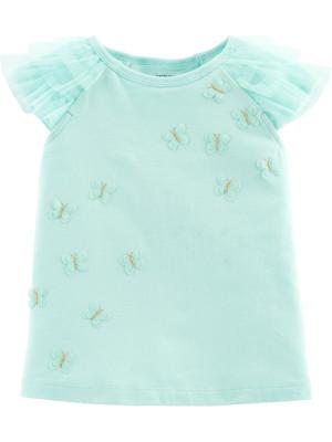 Carter's Tricou cu mâneci din tulle și fluturaș