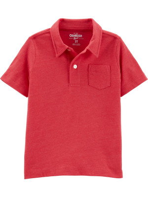 OshKosh Tricou tip polo roșu