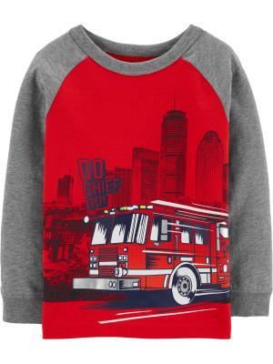 Carter's Bluză cu mânecă lungă Mașină de Pompieri
